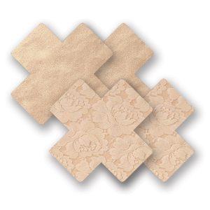 E22683 300x300 - Nippies - okraski za bradavičke Basic Creme Cross