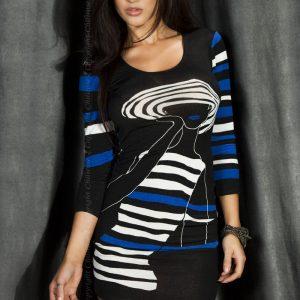 5902013013846 300x300 - Mini obleka  CR3535 črna/blau