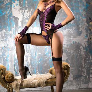 5902016024863 300x300 - Korzet steznik Set črna/violett CR4077