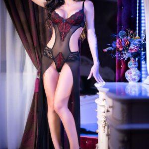 5902017028259 300x300 - Body Gown večerna halja CR4154 črna/rdeča