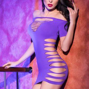 5902017028785 300x300 - Mini obleka  CR4169 vijolčna