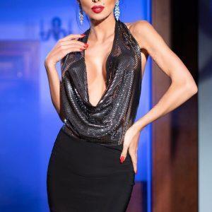 5902018030121 300x300 - Mini obleka  CR4227 črna/silber
