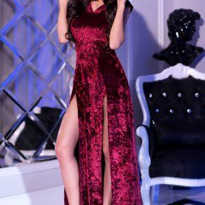 5902019031288 300x300 - Dolga obleka s kapuco  CR4302 pink