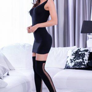 5902019031493 300x300 - Mini obleka  + Nogavice  CR4305 črna