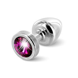 E26680 300x300 - Diogol - Anni Butt Plug Round 25 mm Silver & Pink