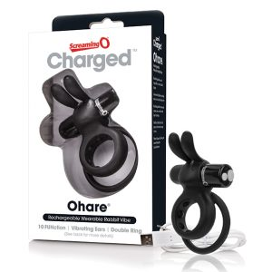 E27284 300x300 - The Screaming O - Charged Ohare Rabbit Vibe Black