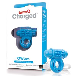 E27290 300x300 - The Screaming O - Charged OWow Vibe Ring Blue