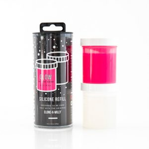 E27728 300x300 - Clone-A-Willy - Refill Glow in the Dark Hot Pink Silicone