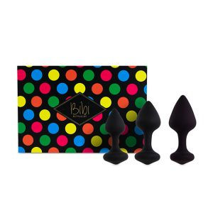 E27866 300x300 - FeelzToys - Bibi Butt Plug Set 3 kom Black