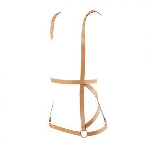 E28697 300x300 - Bijoux Indiscrets - Maze Arrow Dress Harness Brown