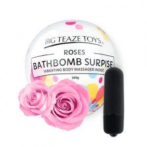 E29021 300x300 - Big Teaze Toys - Bath Bomb Surprise with Vibrating Body Massager Rose