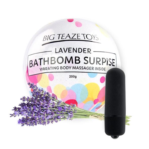 E29022 - Big Teaze Toys - Bath Bomb Surprise with Vibrating Body Massager Lavender